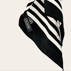 """Coach Accessories - Coach 100% Silk Stripe Scarf 58"""" x 5.5"""" Rectangle"""